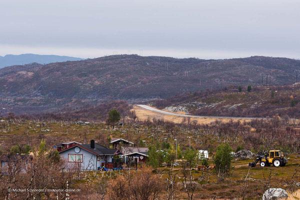 Typischer Hof in Lappland,
