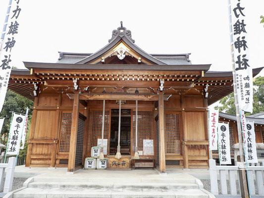 拝殿の設計施工