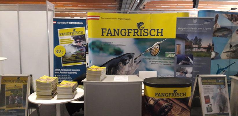 "Stand des österr. Anglermagazines ""Fangfrisch"""