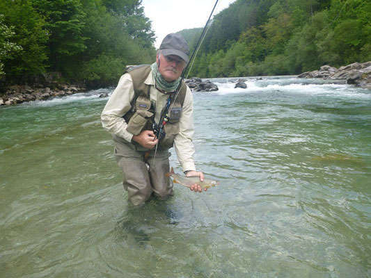 Thats me with a good Grayling