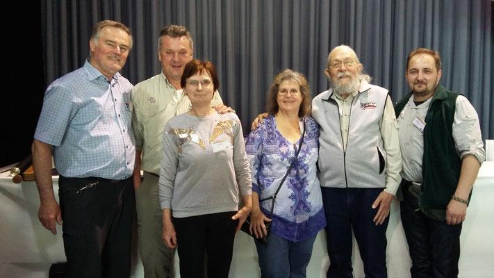 KArl Flick,  Ehepaar Piquard, Ehepaar Berg und Walter (Wolly) Bayer