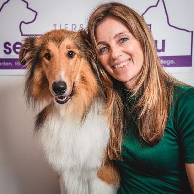 Inhaberin, Portrait, Hund, Hundesalon, Tierpflege, Hundefrisör, Sebastian Frank Fotografie