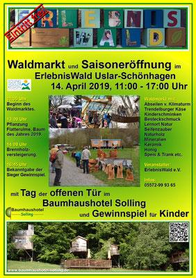Plakat zum Tag der offenen Tür, Waldmarkt.