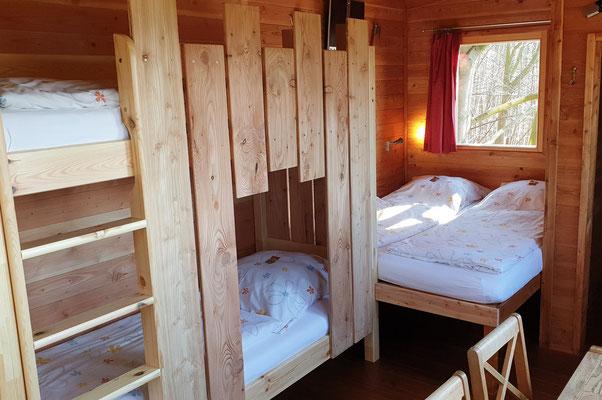 Abenteuerstockbett, nicht nur für Kinder. Bild: Baumhaushotel Solling