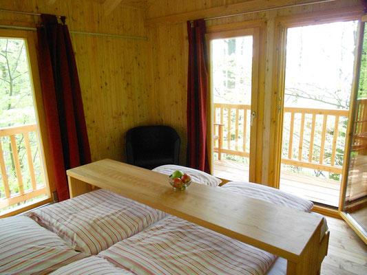 Baumhaus Refugium, Rundumblick. Bild: Baumhaushotel Solling..