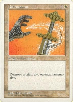 Entzauberung Portugiesisch Fünfte Edition. Dunkler Druck.