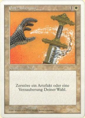 Entzauberung Deutsch Fünfte Edition frontcut. Aus 2-Spieler-Startersets.