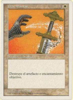 Entzauberung Spanisch Fünfte Edition frontcut. Aus 2-Spieler-Startersets.