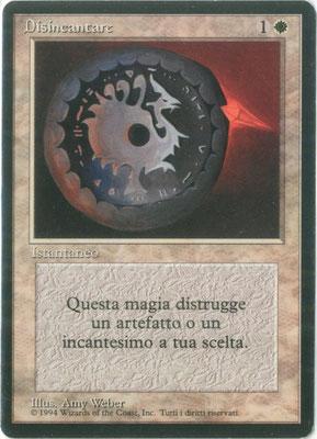 Entzauberung Italienisch Limited. Schwarzer Punkt auf der Rückseite.