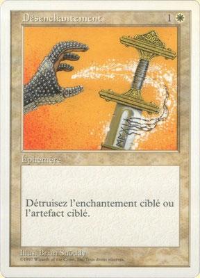Entzauberung Französisch Fünfte Edition. Heller Druck.