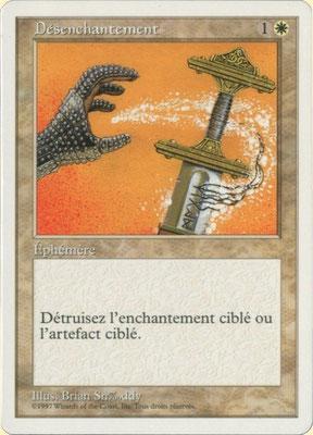 Entzauberung Französisch Fünfte Edition front cut. Aus 2-Spieler-Startersets.