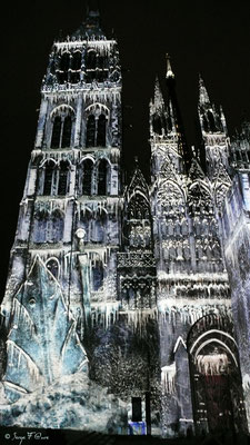 Illuminations de la Cathédrale de Rouen - Normandie - France - Août 2013