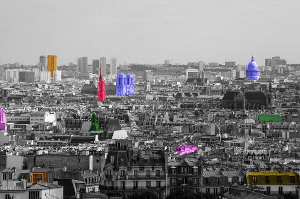 Paris vu de Montmartre (Juillet 2010)