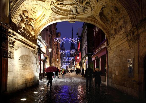 Rue du Gros Horloge (ROUEN) Décembre 2010