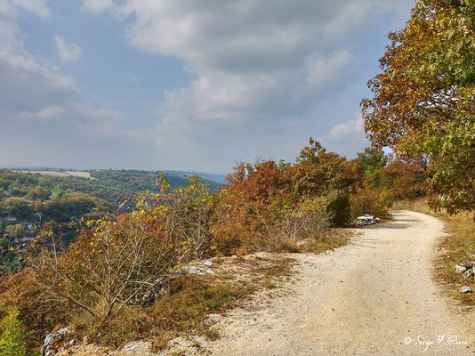 Chemin du haut à Rocamadour