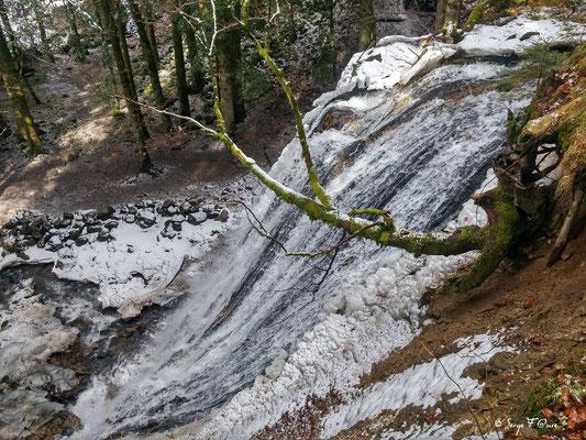 Cascade du Rossignolet vue d'en haut- le Mont Dore - Massif du Sancy - Auvergne - France