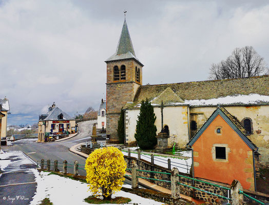 L'église de Murat le Quaire - Façon tableau - Massif du Sancy - Auvergne - France