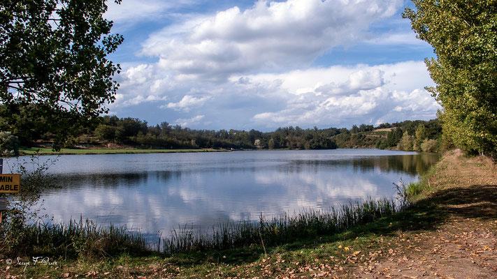 Le barrage de Guirande au Terly  (Chemin de Compostelle 2014)