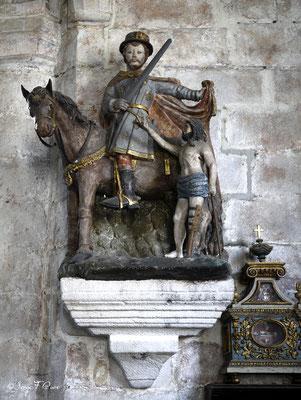 Saint Martin dans l'église Saint-Martin de Veules les Roses - Pays de Caux - Normandie - France