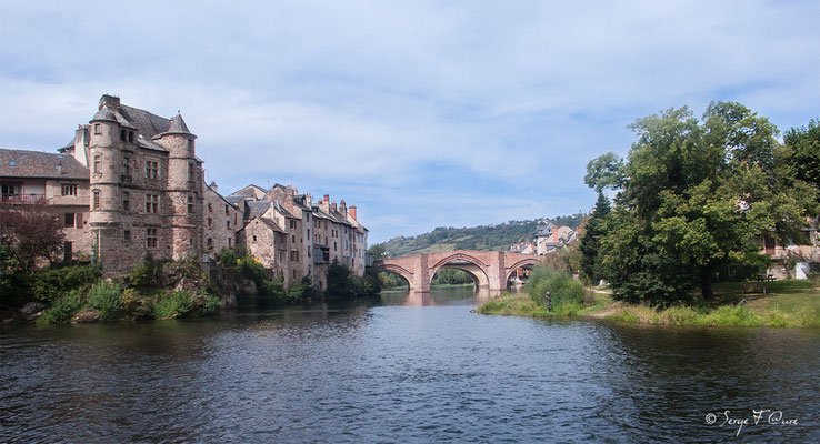Espalion - France - Sur le chemin de St Jacques de Compostelle (santiago de compostela) - Le Chemin du Puy ou Via Podiensis (variante par Rocamadour)