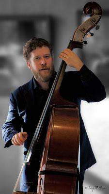 Sébastien Girardot (contrebasse) - 26ème Festival de jazz 2015 (Sancy Snow Jazz) Le Mont Dore - Auvergne - France