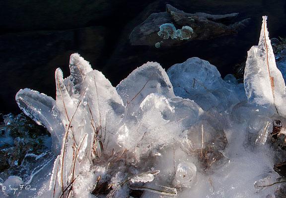 """""""Variation autour de l'eau et de la glace"""" à Murat le Quaire - Massif du Sancy - Auvergne - France"""