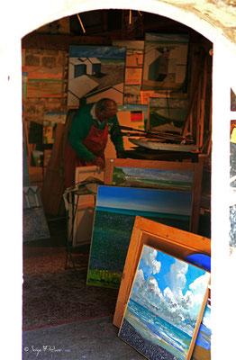Atelier de peintre à Veules les roses - Pays de Caux - Normandie - France