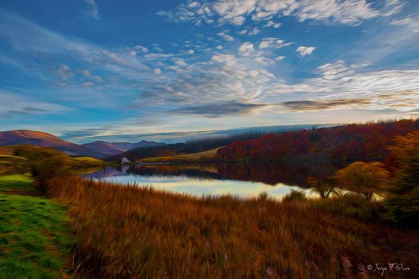 Le lac du Guéry Photo façon tableau peinture Serge Faure