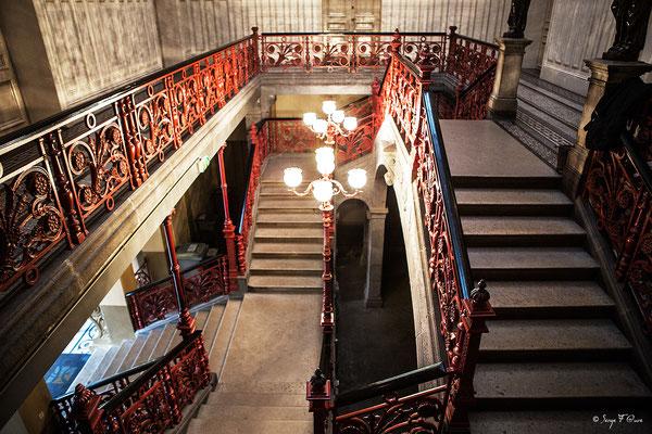 Escalier principal de la Mairie de La Bourboule - Auvergne - France