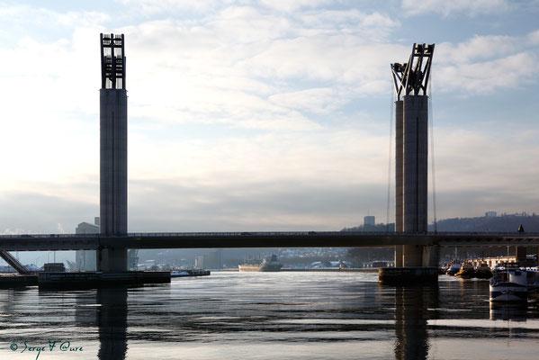 Pont Gustave Flaubert - Rouen - Seine Maritime - Normandie - France - Février 2012