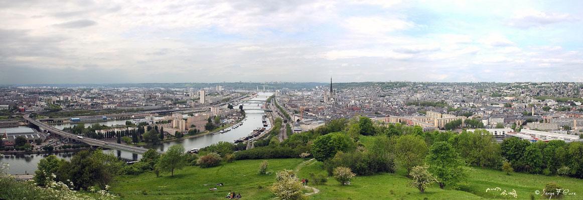 Rouen vu de la côte Ste Catherine - - Haute Normandie - France - Avril 2012 - Vue panoramique