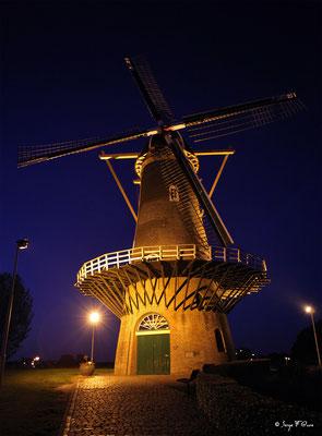 Le moulin de Gorinchem aux portes du Nationaal Park De Biesbosch - Pays Bas - Juin 2011