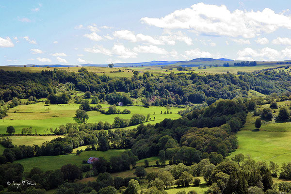 Paysage du Cantal - Auvergne (Août 2006)