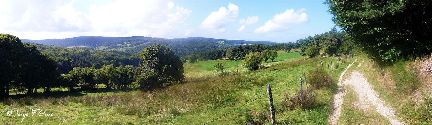 En allant vers St Alban sur Limagnole - France - Sur le chemin de St Jacques de Compostelle (santiago de compostela) - Le Chemin du Puy ou Via Podiensis (variante par Rocamadour)