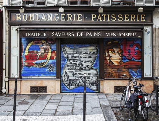 à Paris dans le quartier du Marais (Septembre 2012)