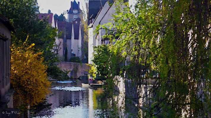 Promenade à Chartres - Photo façon tableau peinture Serge Faure