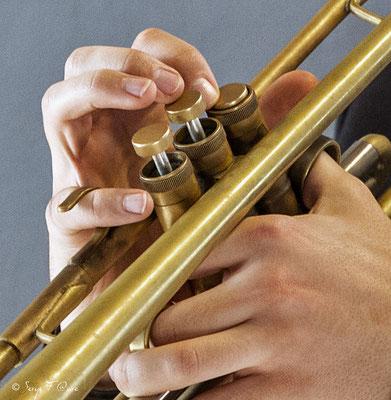 Pistons - Malo Masurié (trompette) - 26ème Festival de jazz 2015 (Sancy Snow Jazz) Le Mont Dore - Auvergne - France