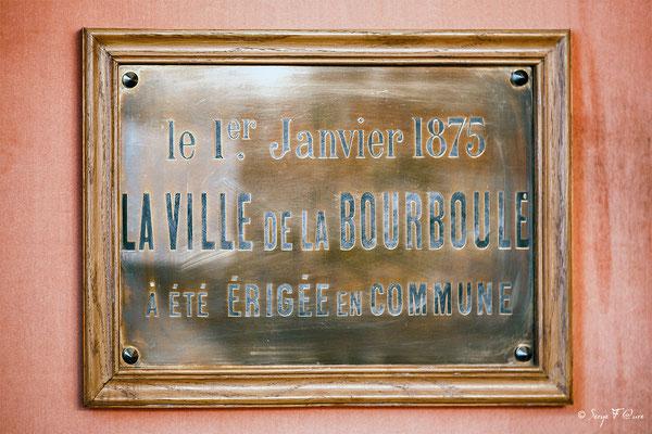 Plaque commémorative dans la salle du Conseil de la Mairie de La Bourboule - Auvergne - France