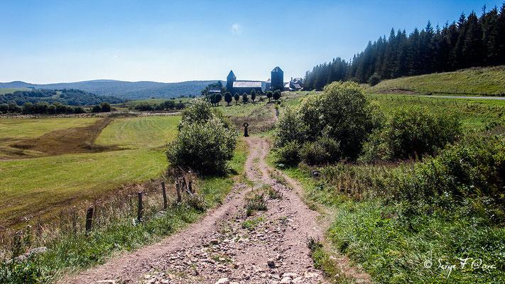 Arrivée à Aubrac - France - Sur le chemin de St Jacques de Compostelle (santiago de compostela) - Le Chemin du Puy ou Via Podiensis (variante par Rocamadour)