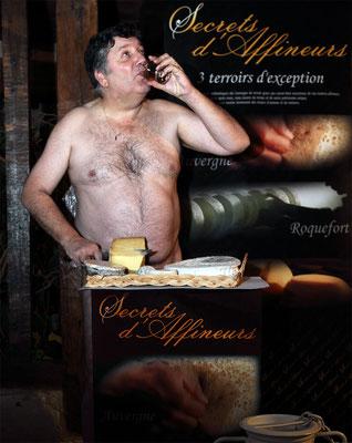 """Calendrier des Fromagers 2013 - """"Secrets de Fromages"""" - Lionel - (Nus / Nudes) ©Photographie Serge Faure"""