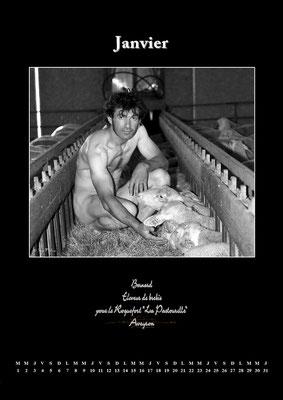 """Calendrier des Fromagers 2013 Janvier - """"Secrets de Fromages"""" - Bernard - (Nus / Nudes) ©Photographie Serge Faure"""