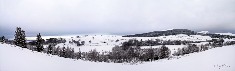 Panoramique du Massif du Sancy vu de Murat le Quaire - Massif du Sancy - Auvergne - France