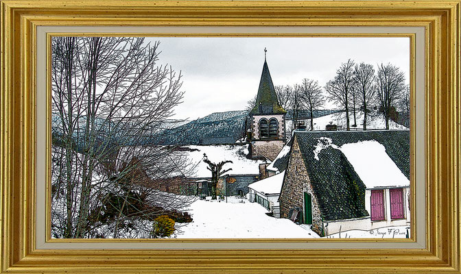 Murat le Quaire - façon tableau - Massif du Sancy - Auvergne - France