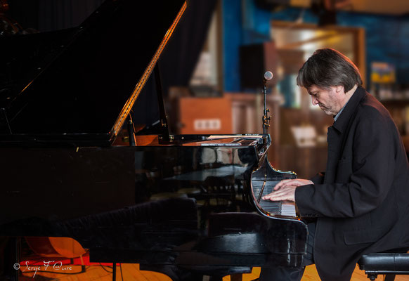 """Philippe Milanta (piano) - """"Philippe Milanta Trio"""" - Sancy Snow Jazz 2016 - Café de la Plage à La Bourboule - Auvergne - France"""
