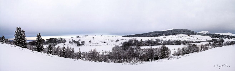 vu des hauts de Murat  sur l'Estomble- Murat le Quaire - Massif du Sancy - Auvergne - France