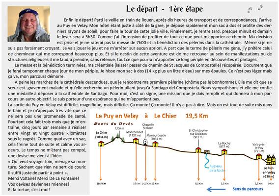 """""""Clic"""" sur le texte pour l'agrandir - Sur le chemin de St Jacques de Compostelle (santiago de compostela) - Le Chemin du Puy ou Via Podiensis (variante par Rocamadour)"""