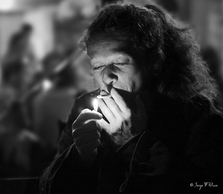 Portrait en noir et blanc par Serge Faure