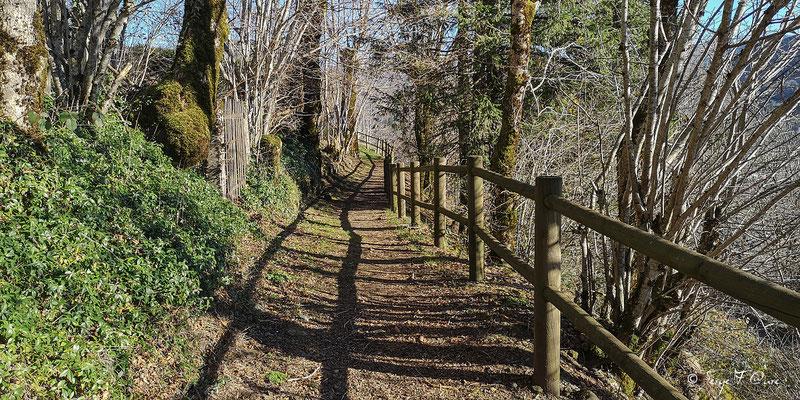 Sur le chemin de ronde de Murat le Quaire - Massif du Sancy - Auvergne - France