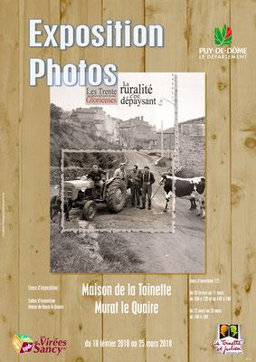 """Affiche d'exposition """"Les trente Glorieuses"""" - Salles Marie Dubois Depailler et Marcel Bony - Murat le Quaire - Massif du Sancy - Auvergne - France"""