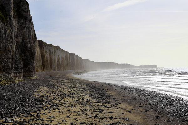 Plage et falaises de Veules les roses - Pays de Caux - Normandie - France